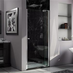 DreamLine Allure Shower Door - Frameless Design - 33-34-in - Chrome