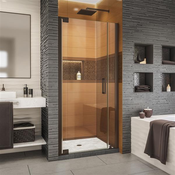 DreamLine Elegance-LS Shower Door - Frameless Design - 36.25-38.25-in - Oil Rubbed Bronze