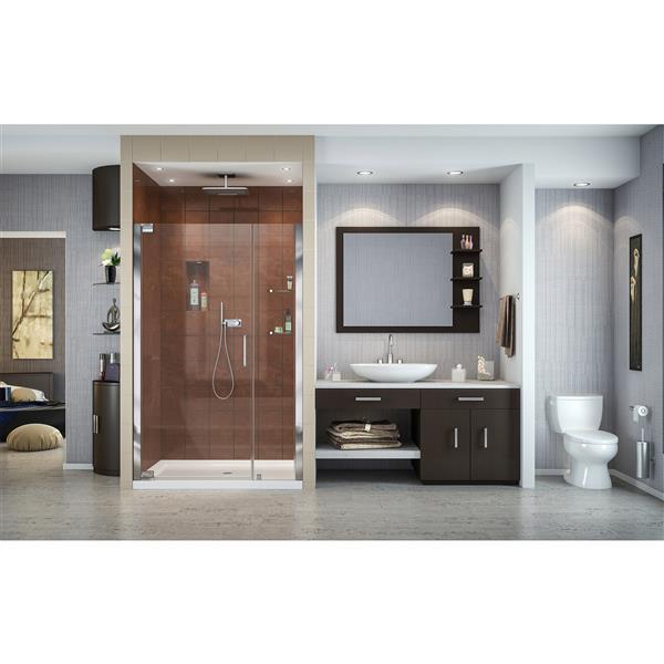 DreamLine Elegance Shower Door - Frameless Design - 39-41-in - Chrome