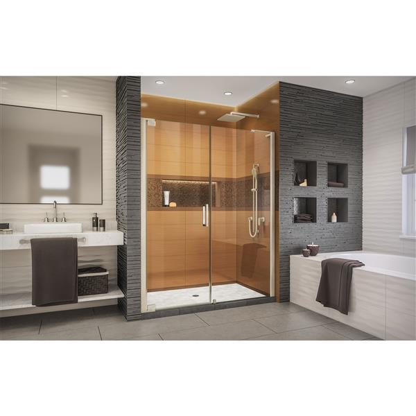 DreamLine Elegance-LS Shower Door - Frameless Design - 62-64-in - Brushed Nickel