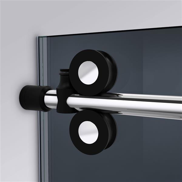 Porte de douche coulissante Enigma-XO de DreamLine, design sans cadre, 56-60 po, tuxedo