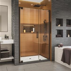 Porte de douche Elegance-LS de DreamLine, design sans cadre, 46,5-48,5 po, bronze huilé