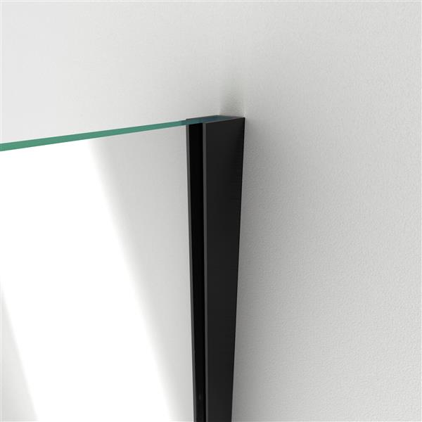 DreamLine Unidoor Plus Hinged Shower Enclosure - Frameless Design - 29-in - Satin Black