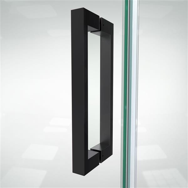 DreamLine Elegance-LS Shower Door - Frameless Design - 49-51-in - Satin Black