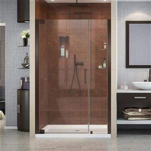 Porte de douche Elegance de DreamLine, design sans cadre, 44,25-46,25 po, bronze huilé