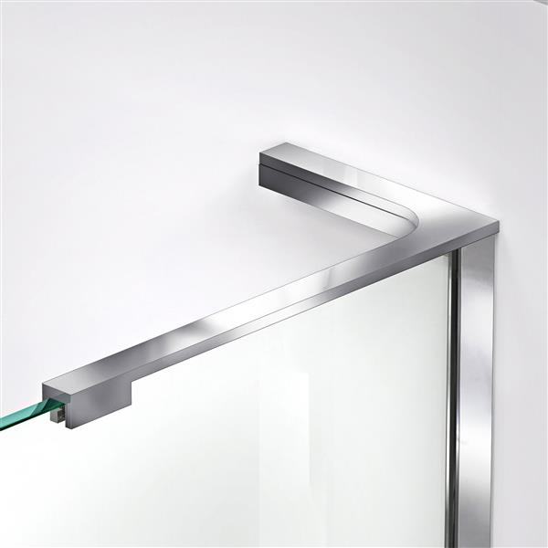 DreamLine Elegance-LS Shower Door - Frameless Design - 43-45-in - Chrome
