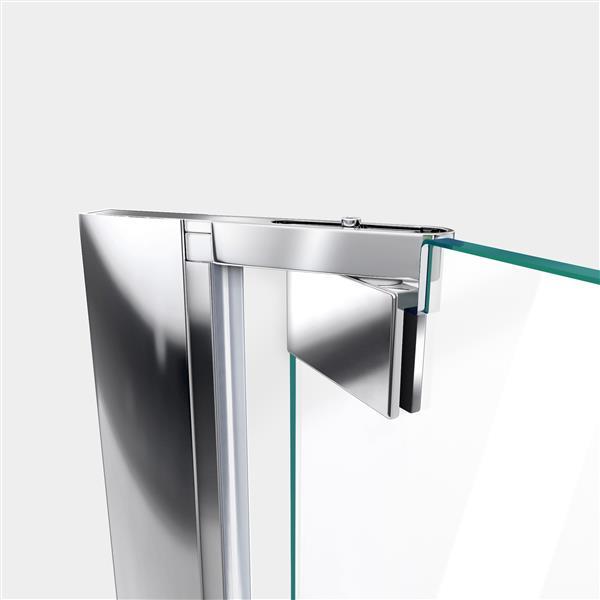 DreamLine Elegance Shower Door - Frameless Design - 44.25-46.25-in - Chrome