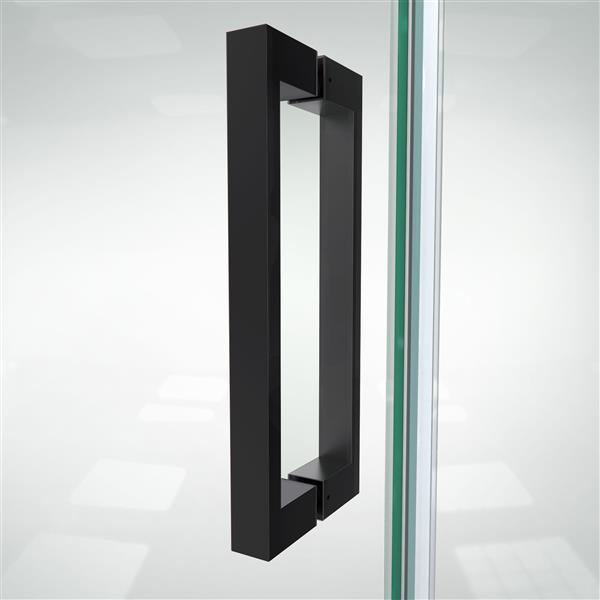 DreamLine Elegance-LS Shower Door - Frameless Design - 41.25-43.25-in - Satin Black