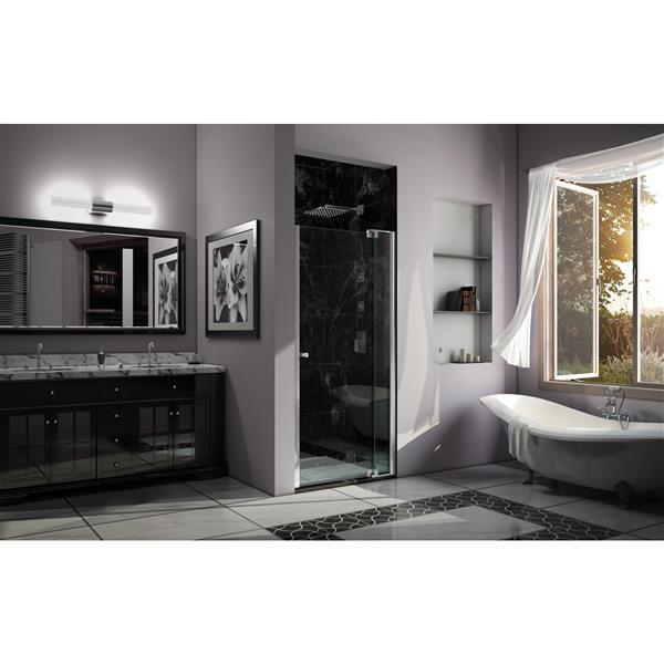 DreamLine Allure Shower Door - Frameless Design - 40-41-in - Chrome