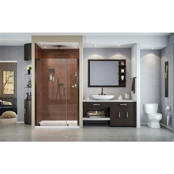 DreamLine Elegance Shower Door - Frameless Design - 37.25-39.25-in - Oil Rubbed Bronze