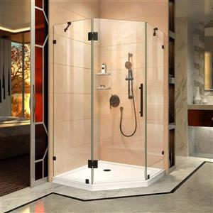 Paroi de douche Prism Lux de DreamLine, design sans cadre, 38 po, bronze huilé