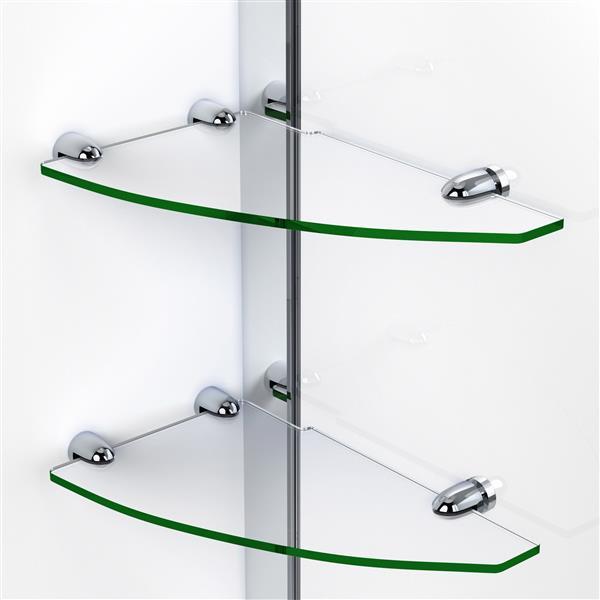 Porte de douche Elegance de DreamLine, design sans cadre, 40,75-42,75 po, bronze huilé