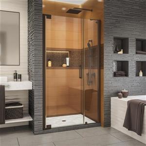 Porte de douche Elegance-LS de DreamLine, design sans cadre, 35,25-37,25 po, bronze huilé