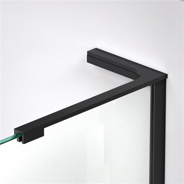 DreamLine Elegance-LS Shower Door - Frameless Design - 55-57-in - Satin Black