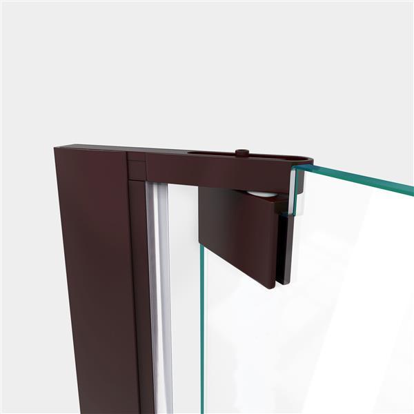 DreamLine Elegance-LS Shower Door - Frameless Design - 54.25-56.25-in - Oil Rubbed Bronze
