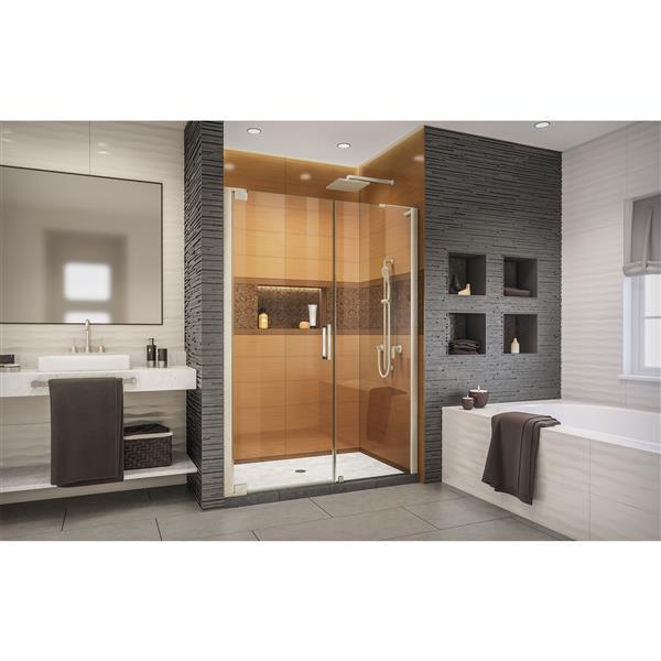 DreamLine Elegance-LS Shower Door - Frameless Design - 54.25-56.25-in - Brushed Nickel