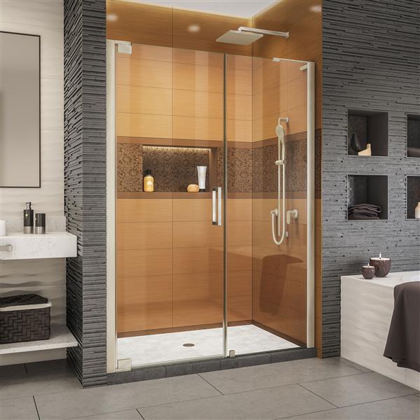 DreamLine Elegance-LS Shower Door - Frameless Design - 57.75-59.75-in - Brushed Nickel