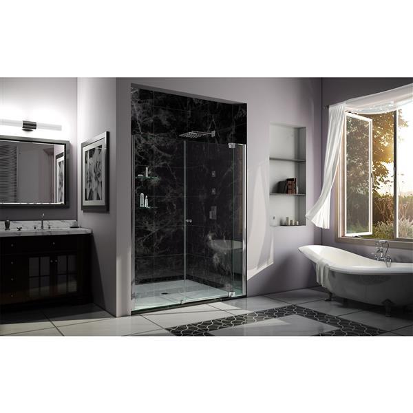 DreamLine Allure Shower Door - Frameless Design - 58-59-in - Chrome