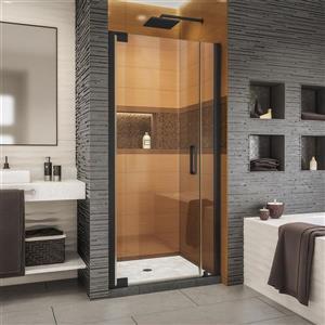 Porte de douche Elegance-LS de DreamLine, design sans cadre, 29,25-31,25 po, noir satiné