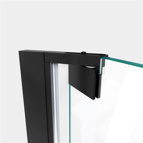 DreamLine Elegance-LS Shower Door - Frameless Design - 35.25-37.25-in - Satin Black