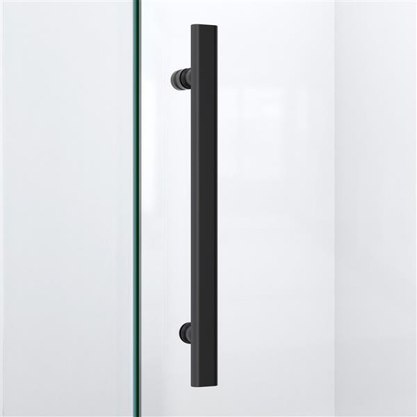 DreamLine Quatra Plus Shower Enclosure - Frameless Design - 46.38-in - Satin Black