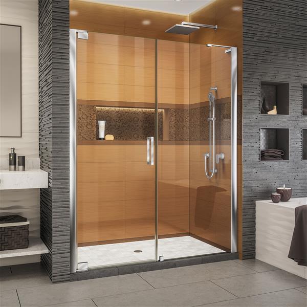 DreamLine Elegance-LS Shower Door - Frameless Design - 53.25-55.25-in - Chrome