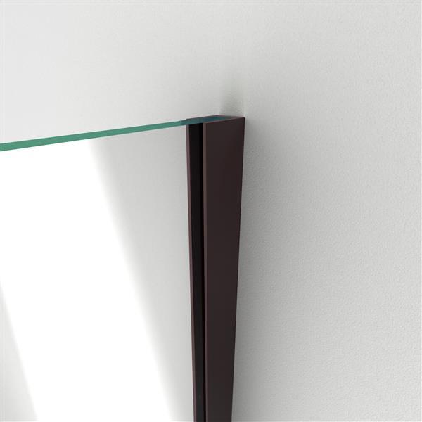 DreamLine Unidoor Plus Hinged Shower Enclosure - Frameless Design - 60-in - Oil Rubbed Bronze