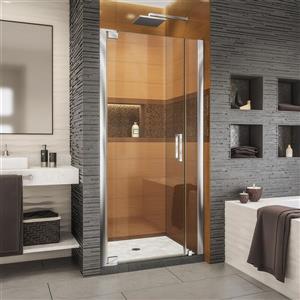 Porte de douche Elegance-LS de DreamLine, design sans cadre, 29,25-31,25 po, chrome