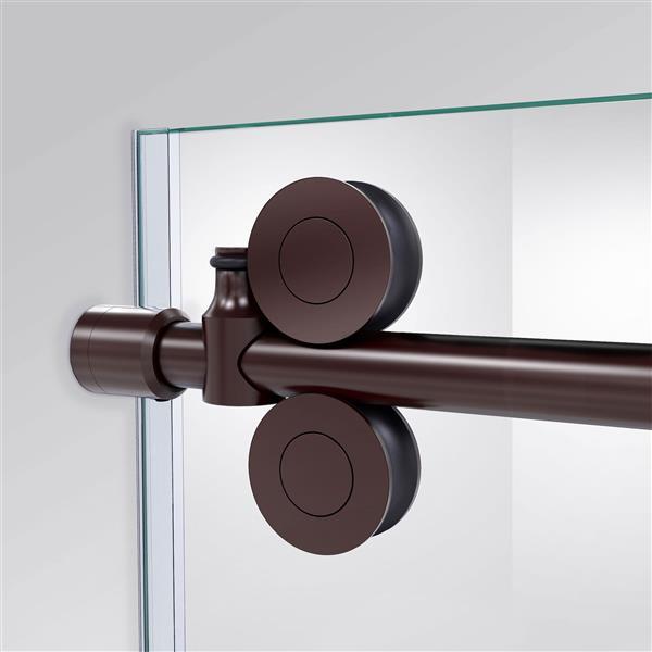 DreamLine Enigma-XO Shower Door - Frameless Design - 50-54-in - Oil Rubbed Bronze