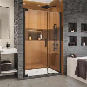 Porte de douche Elegance-LS de DreamLine, design sans cadre, 44,75-46,75 po, noir satiné