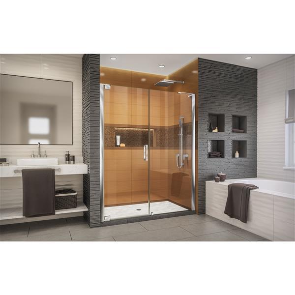 DreamLine Elegance-LS Shower Door - Frameless Design - 58.5-60.5-in - Chrome