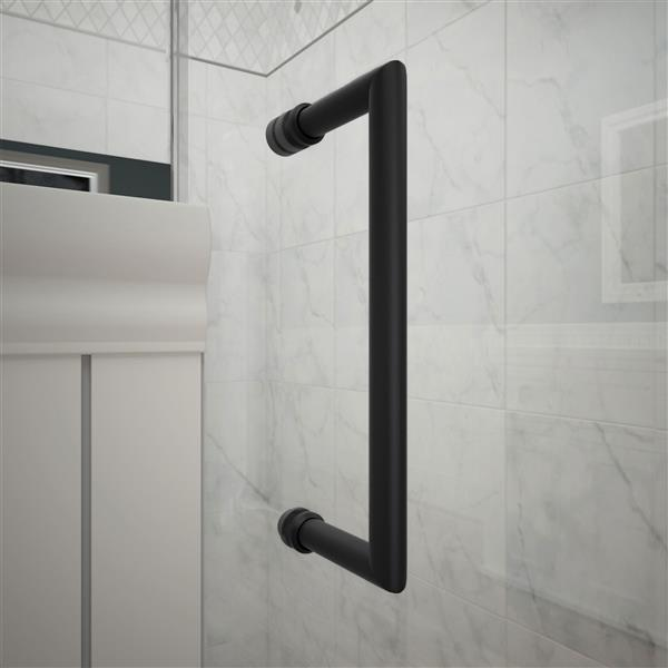 DreamLine Unidoor Plus Hinged Shower Enclosure - Frameless Design - 59-in - Satin Black