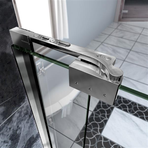 DreamLine Allure Shower Door - Frameless Design - 53-54-in - Chrome