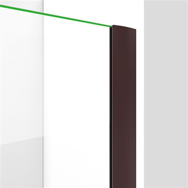 DreamLine Elegance-LS Shower Door - Frameless Design - 38-40-in - Oil Rubbed Bronze