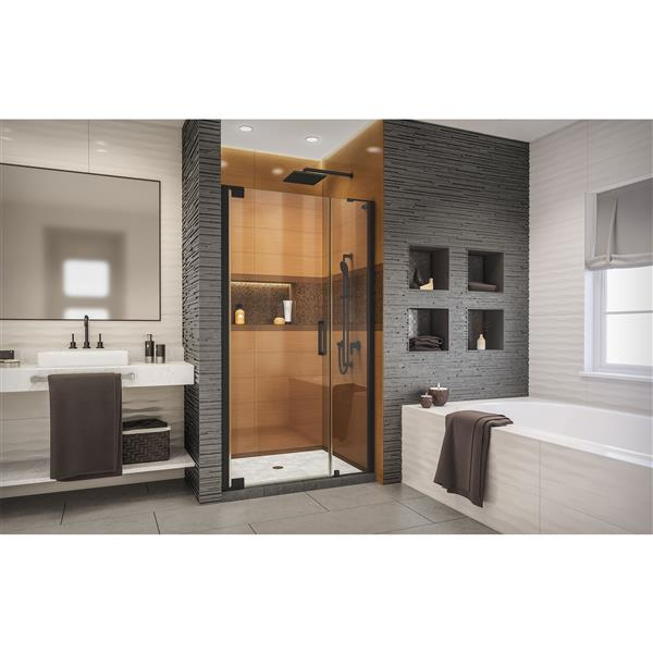 DreamLine Elegance-LS Shower Door - Frameless Design - 42.25-44.25-in - Satin Black