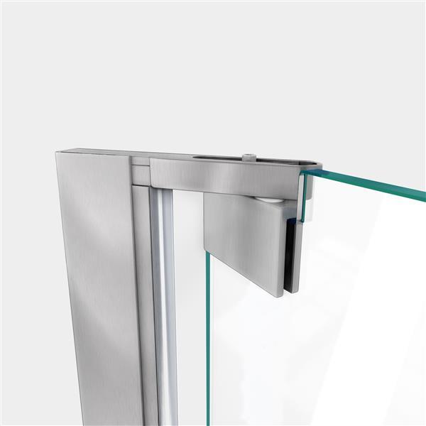 DreamLine Elegance-LS Shower Door - Frameless Design - 60.25-62.25-in - Brushed Nickel