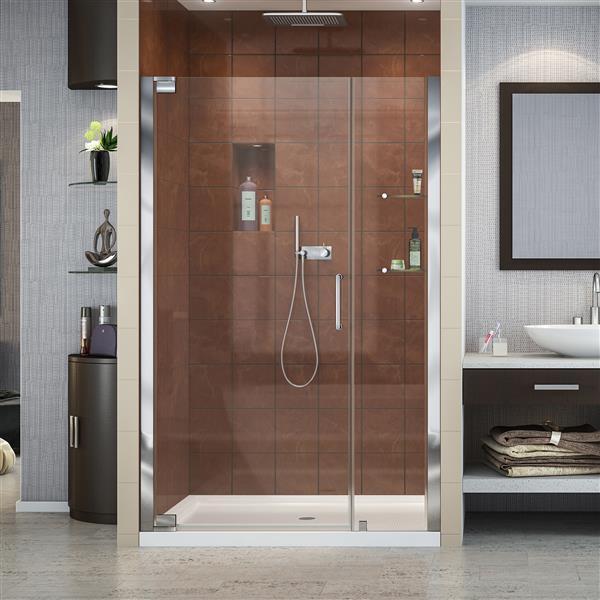 DreamLine Elegance Shower Door - Frameless Design - 47.75-49.75-in - Chrome