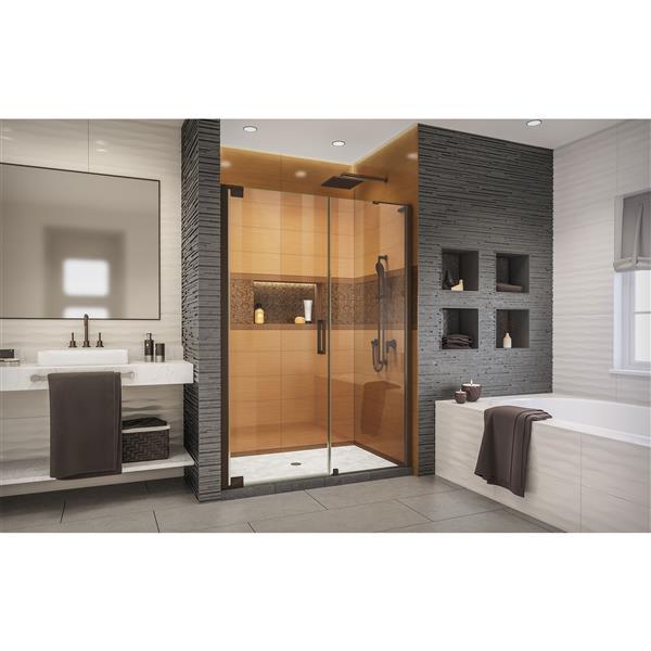 DreamLine Elegance-LS Shower Door - Frameless Design - 49-51-in - Oil Rubbed Bronze