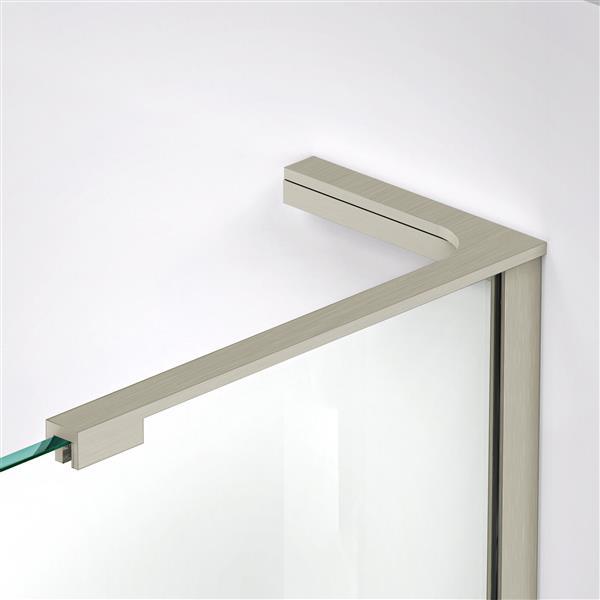 DreamLine Elegance-LS Shower Door - Frameless Design - 50-52-in - Brushed Nickel