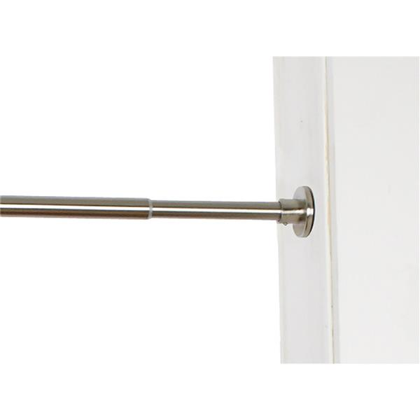 Versailles Home Fashions 18-28-in Spring Tension Rod set - Brushed Nickel