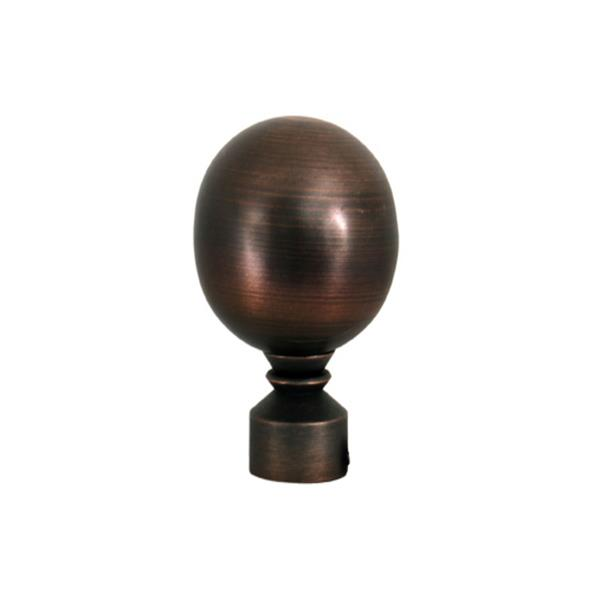 Versailles Home Fashions 86-144-in Lexington Rod with Ball Finial - Antique Bronze/Brown