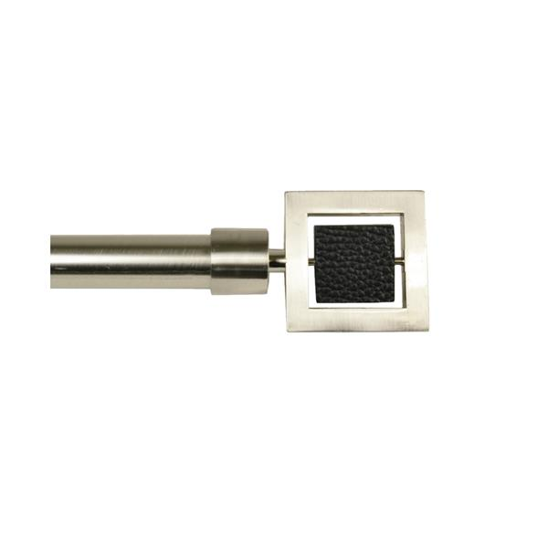 Versailles Home Fashions 30-78-in Industria Rod with Nexus Finial - Brushed Nickel