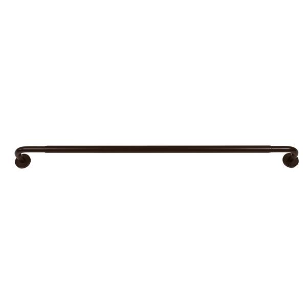 Versailles Home Fashions 66-120-in Privacy Series Rod with Mounting screw Finial - expresso