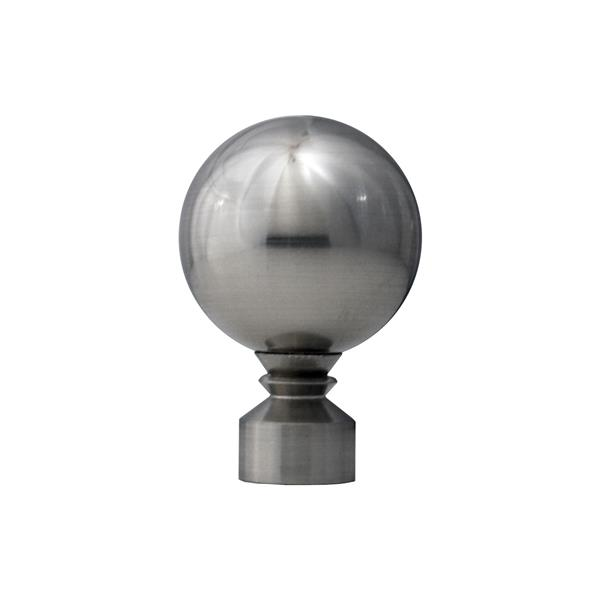 Versailles Home Fashions 86-144-in Lexington Rod with Ball Finial - Pewter/Silver