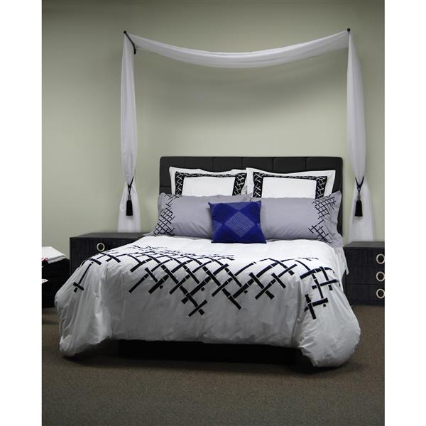 Versailles Home Fashions 1/2-in diam. 14-24-in Swing Arm set with Ball Finial - expresso -Set of 2