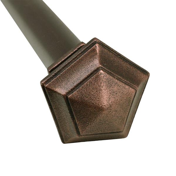 Versailles Home Fashions 28-48-in Titan Ex Rod with Penta Finial - Antique Copper