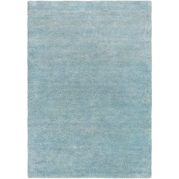 Surya Parma Solid Area Rug - 4-ft x 6-ft - Rectangular - Sky Blue