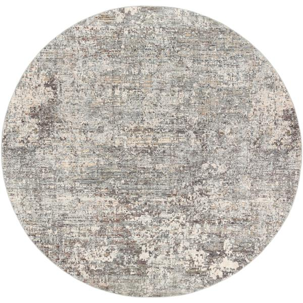 Surya Presidential Modern Area Rug - 7-ft 10-in - Round - Gray