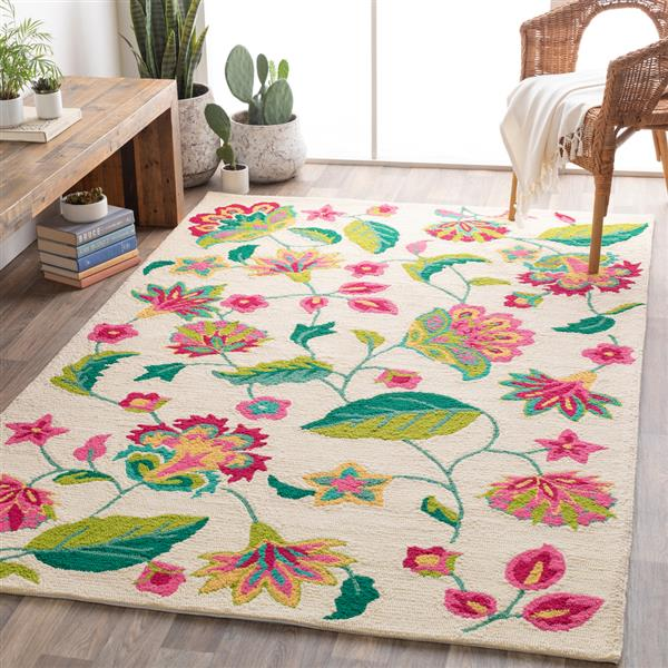 Surya Rain Indoor/Outdoor Area Rug - 8-ft x 10-ft - Rectangular - Cream