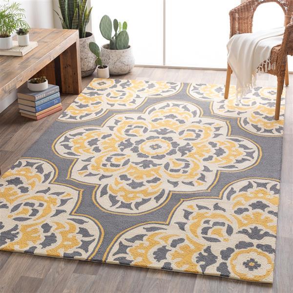 Surya Rain Indoor/Outdoor Area Rug - 3-ft x 5-ft - Rectangular - Yellow